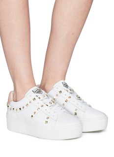 Ash 'Clover' strass stud leather platform sneakers