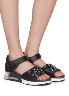 Ash 'Lotus' strass satin sandals