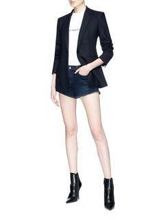 L'Agence 'Zoe' frayed denim shorts