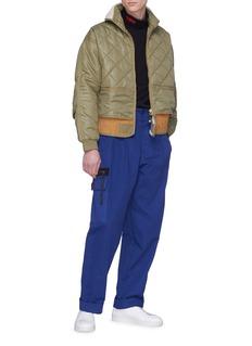 032c WWB刺绣纯棉立领卫衣