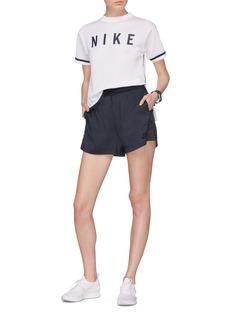 Nike Logo print mesh T-shirt