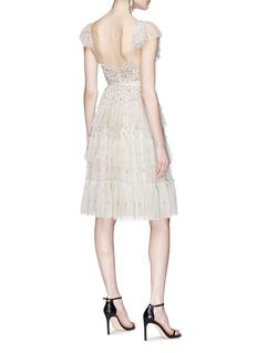 Needle & Thread 'Sunburst' ruffle floral embellished tulle dress