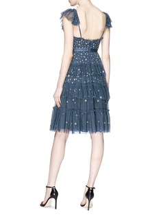 Needle & Thread 'Sunburst' ruffle floral embellished tulle dress