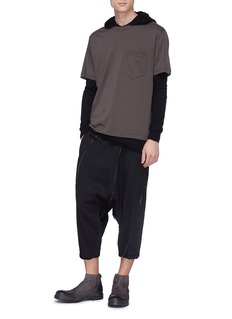 THE VIRIDI-ANNE 纯棉口袋T恤