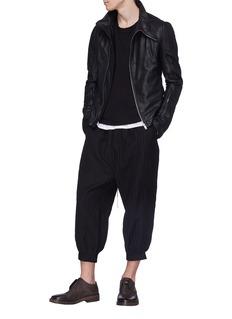 The Viridi-anne Pinstripe wool-linen gabardine jogging pants