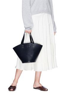 Trademark Detachable scarf large leather basket bag