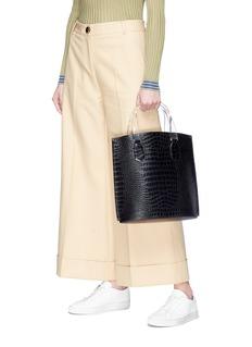 Trademark 'Aubock' mini croc embossed leather tote