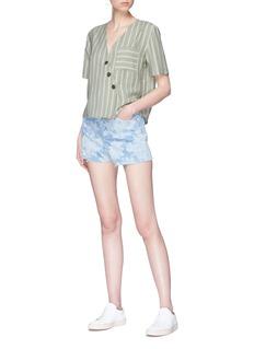 Topshop Floral print denim shorts