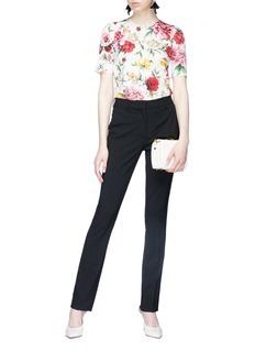 Dolce & Gabbana Floral print silk charmeuse top