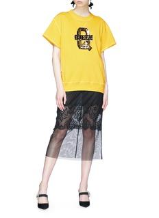 Dolce & Gabbana 'Queen' sequin patch batwing sweatshirt