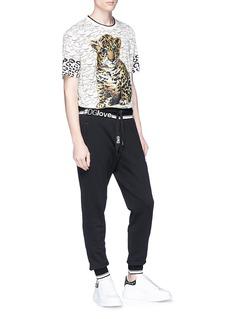 Dolce & Gabbana '#DGlove' slogan intarsia sweatpants