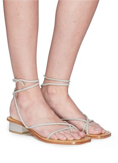 LOQ 'Ara' ankle tie leather strappy sandals