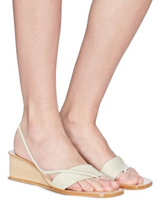 LOQ 'Sofia' strappy leather wedge sandals