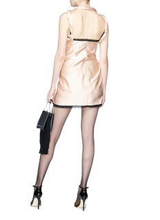 Alexander Wang  Asymmetric twist silk satin slip dress