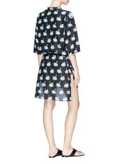 Stella McCartney Swan print kaftan dress