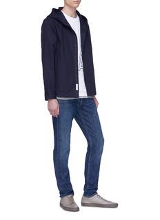 rag & bone 'Bryant' hooded denim shirt