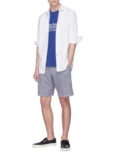 rag & bone 'Base' gingham check chambray shorts