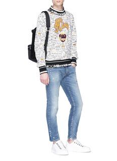 Dolce & Gabbana 'King' appliqué graffiti print sweatshirt