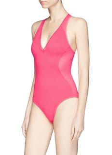 Stella McCartney Mesh panel neoprene one-piece swimsuit