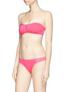 Stella McCartney Mesh panel neoprene bikini bottoms