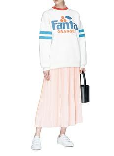 Marc Jacobs 'Fanta' sequin slogan oversized knit sweatshirt