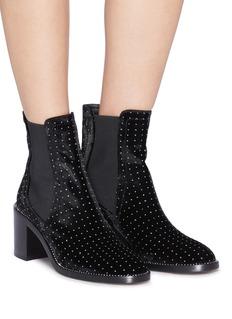 Jimmy Choo 'Merril 65' strass welt velvet ankle boots