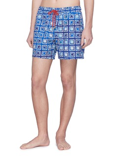 Māzŭ 'Big Blue' mosaic print swim shorts