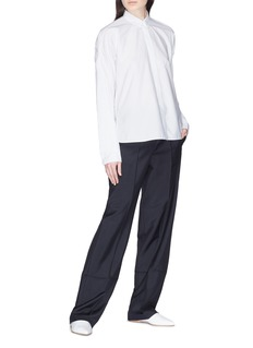 Jil Sander Plissé pleated sleeve shirt