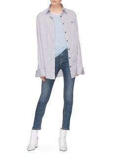 rag & bone/JEAN Frayed cuff skinny jeans