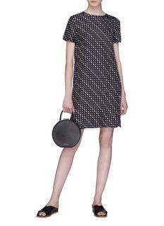 Theory Geometric print silk twill T-shirt dress