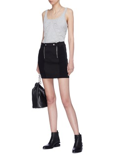T By Alexander Wang Double zip panelled skirt