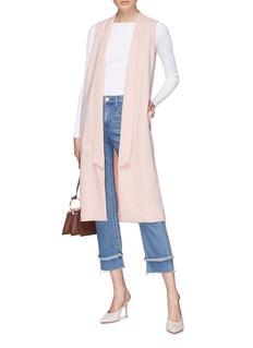 alice + olivia 'Keaton' extended lapel crepe long vest