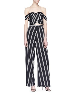 alice + olivia 'Athena' stripe wide leg pants