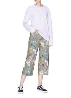 Topshop Tropical floral print culottes