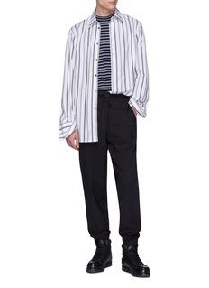 3.1 Phillip Lim Stripe outseam virgin wool jogging pants
