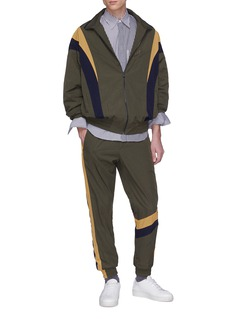 Wooyoungmi Colourblock stripe outseam track pants