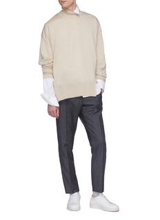 Wooyoungmi Split hem wool turtleneck sweater