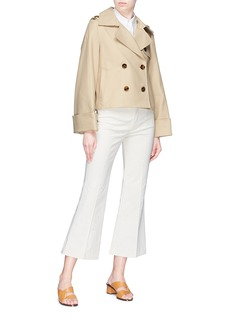 KHAITE 'The Bianca' belted pleated back trench jacket