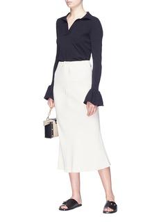 KHAITE 'The Marta' drawstring crepe skirt