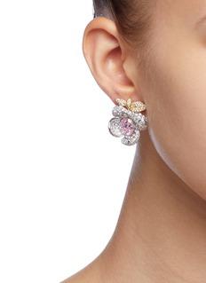 Anabela Chan 'Mini Blossom' diamond floral earrings