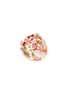 Anabela Chan 'Swallowtail' diamond gemstone freshwater pearl ring