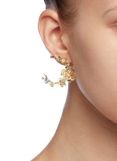 Anabela Chan 'Orchard Garland' diamond gemstone hoop earrings