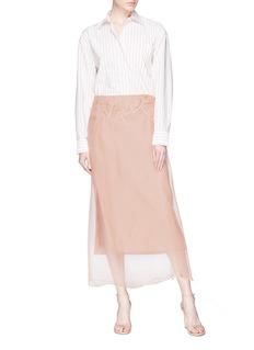 Dries Van Noten 'Sagax' glass crystal embellished organdy overlay skirt