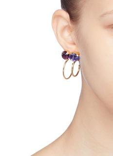 Joomi Lim 'Gem Fatale' Swarovski crystal mismatched hoop earrings