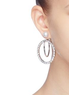 Joomi Lim 'Saturn Stunner' detachable Swarovski crystal ring hoop earrings