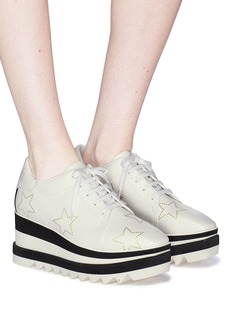 Stella McCartney 'Sneak-Elyse' perforated star faux leather platform Derbies