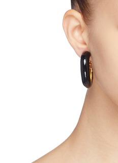KENNETH JAY LANE 搪瓷开口圆环夹耳式耳环
