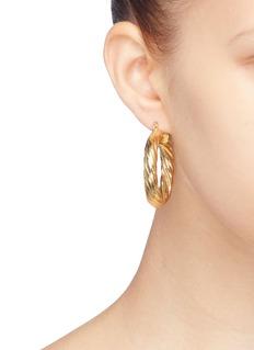Kenneth Jay Lane Twisted hoop earrings