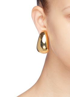 KENNETH JAY LANE 镀金金属夹耳式耳环