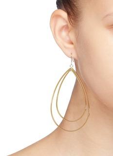 Kenneth Jay Lane Teardrop hoop earrings